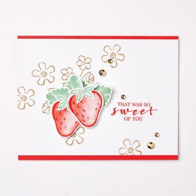 SARAHS CARDS stampin up sweet strawberry